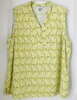 Christopher And Banks Womens Size 2X  Sleeveless Blouse Linen/Rayon