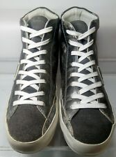 PHILIPPE MODEL PARIS Laminated Silver Leather High Top Sneakers EU 41 US 9.5