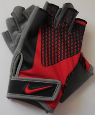 NIKE Men's Core Lock Training Gloves Color Cool Grey/University Red Size L New