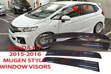 2015 2016 HONDA FIT 3RD GEN JDM MUGEN STYLE SMOKED WINDOW VISOR