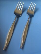 COSMOS Set of 2 Dinner Forks Vintage Stainless Steel Flatware Japan