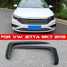 Gloss Black ABS Front Bumper Vent Splitter Fog Light Trim For VW Jetta MK7