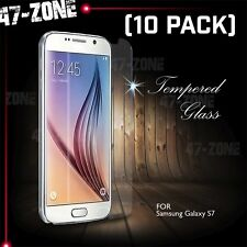 For Samsung Galaxy S7 Premium HD Clear Tempered Glass Screen Protector 10 PC