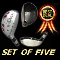 iDrive set of Five Hybrids #2 #3 #4 #5 #6 Graphite Regular Rescue Iron Woods Set