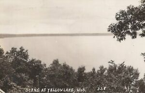 Scene at Yellow Lake, Wisconsin - posted RPPC