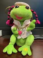 Gemmy Frogz Girl Rock It Rap It Ribbit Hip Hop Frog Pink Shirt and Bling