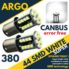 44 SMD LED CANBUS ERROR FREE SUPER WHITE 380 1157 BAY15D FRONT DRL LIGHT BULBS
