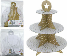 Set of 2 3 Tier Gold Cake Stand Party Table Display Cupcake Birthday Wedding