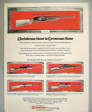 Crosman Air Rifle PRINT AD - 1970 ~~ Powermaster, Pumpmaster pellet gun, B-B
