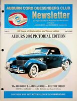 Vintage Auburn Cord Duesenberg Club Newsletter Magazine Vol L. 2002 No. 8 m883
