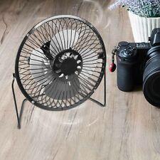 More details for 6 inch mini metal desk fan quiet personal cooler usb powered portable fan