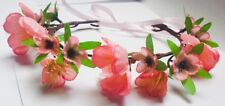 Pink Flower Crown Headband Festival Party Pink Rustic Head Wreath Halo