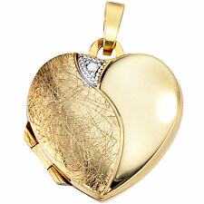Echtschmuck-Halsketten aus Gelbgold Liebe & Herzen