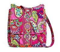 NWT Rare Vera Bradley Paisley Pink Swirls Mailbag Bright Shoulder Bag 12467-179