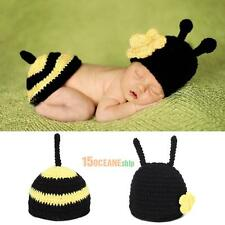 Baby honey bee kids Soft Handmade Crochet Hat Photography Props Black and Yellow