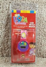 Brand New 2002 Viacom International Dora The Explorer Digital Lcd Wrist Watch