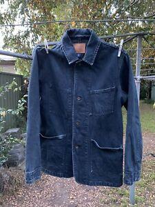 GAP Black Denim Chore Jacket Small