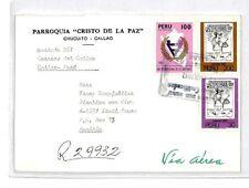 CM374 1982 *PERU* Missionary Air Mail MIVA Austria Cover