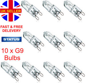 10 x G9 Halogen Replacement Bulbs 18W 28W Clear Capsule 240V Warm White Lamp