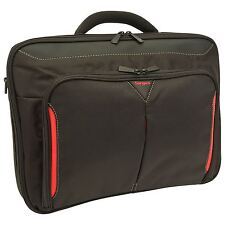"TARGUS CLASSIC 15.6"" CLAMSHELL DESIGN BREIFCASE LAPTOP BAG BLACK & RED (CN415EU)"