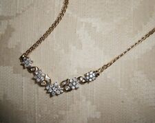 14K Yellow Gold and White Diamond, Floral Necklace