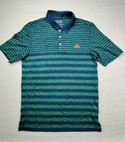 Adidas ClimaCool Men's S Green&Teal Striped Short Sleeve Lightweight Golf Polo