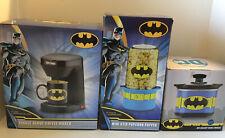 Nwt 3pc Lot Dc Batman Single Serve Coffee Maker, Popcorn Popper, Crock Pot
