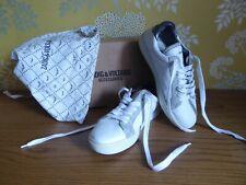 ZADIG & VOLTAIRE Sneakers 100% CUIR blanc clouté clous T 38 TRES BON ETAT
