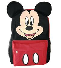 """Disney Mickey Mouse w/ 3D Ears 16"""" Backpack Back to School Book Bag for Kids"""