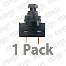SPST (N/O) MOMENTARY ON BLACK PUSH BUTTON SWITCH 10AMPS @ 125VAC #66-2468-1PK