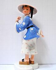 """Vintage Royal Copenhagen """"Dressed Up Children"""" Chinese Child Figurine Rare"""