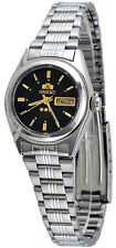 Orient BNQ1X001B Women's 3 Star Stainless Steel Black Dial Automatic Watch