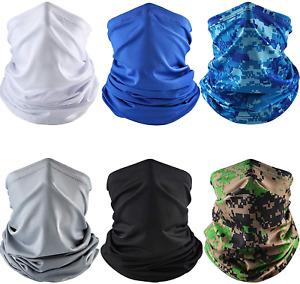 Cubre Cara Protector Facial Pañuelo Bandana 6-Pack Protection Face Cover Neck