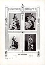 """C. Droste R. Wagners """"Siegfried"""" e i suoi attori con Histor. stampa D'ARTE 1909"""