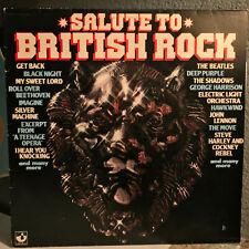 "SALUTE TO BRITISH ROCK - 1979 Compilation - 12"" Vinyl Record LP - VG"