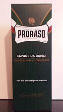 Proraso Shaving Cream Soap Mentol y Eucalipto Verde XL 500ml Tubo Reino Unido Stock