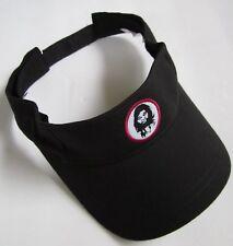 """THE CAVEMAN"" GEICO INSURANCE ADJUSTABLE STRAPS BLACK VISOR HAT CAP, OSFM, NWOT!"