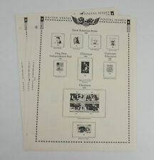 New Minkus Stamp Album Pages 1982 Supplement No. 28 U.S. Regular Issues(3 Pages)