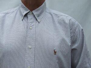 RALPH LAUREN POLO  cotton BUTTON DOWN LONG sleeve shirt Size 17 / 34