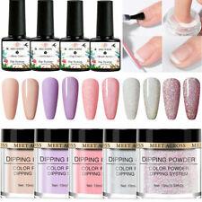 9Pcs/Set Meet Across Dipping Powder Glitter Dip Liquid Kits No Uv Lamp Manicure