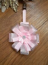 Stunning single smaller clip bag charm or  pram charm pink silver