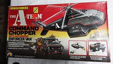 1983 LJN the A-TEAM Rough Riders COMMAND CHOPPER w/ Enforcer Van playset MIB