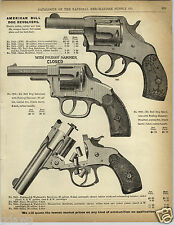 1892 PAPER AD Forehand & Wadworth Revolver XL American Bull Dog Smith & Wesson