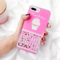 Cupcakes Dynamic Quicksand Sequins Phone Case Cover For iPhone 6/6S/7/8 Plus