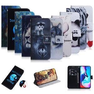For Motorola MOTO G8 Power Lite G9 Play Plus Flip Luxury Case Wallet Phone Cover