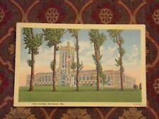 Vintage Postcard City College, Baltimore, Md.