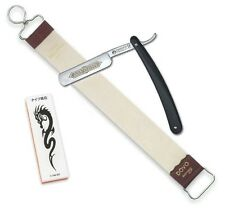 Dovo Straight Razor, Japanese Water Stone and DOVO Leather Strop 18""
