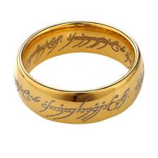 Anello HOBBIT Acciaio collezione SIGNORE degli ANELLI collection rings oro