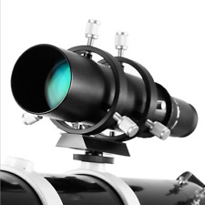 60mm Finder Scope & Multi-Use Guidescope for Astronomy Telescope Angeleyes Black