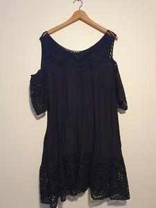 Womens Black Dress Size 14 New autograph  bohemian dress. Never worn.